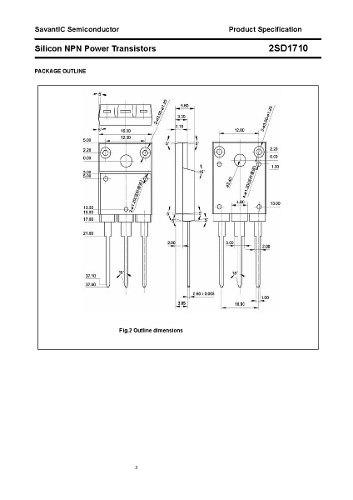 transistor d1710 2sd1710 1710 a-3pf original nuevos