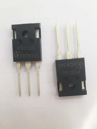 transistor igbt k50t60 50t60 600v 80a kit com 10 unidades
