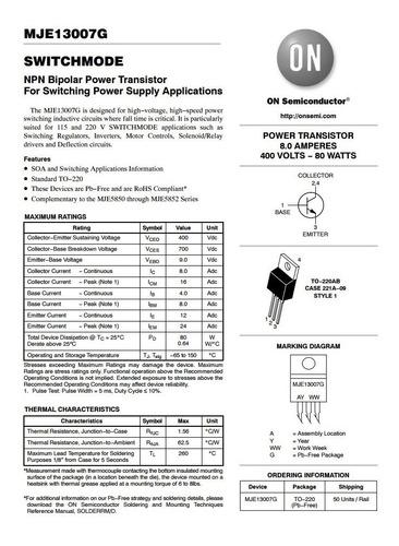 transistor para fuente atx 13007 series con garantia
