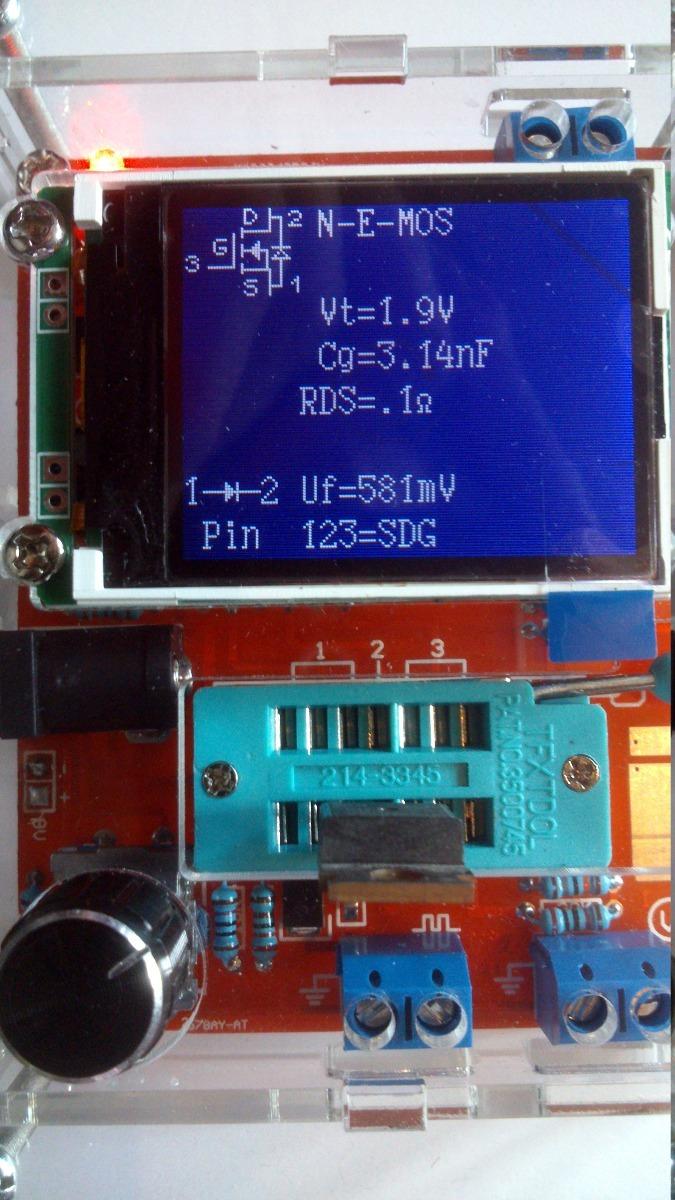 Transistor Testerprobador De Transistoresfetdiodosrlc Led Circuito Basado Probador Transistores Cargando Zoom