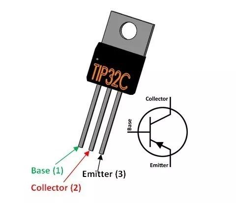 transistor tip32c  tip32 pnp to220 fairchild arduino pic arm