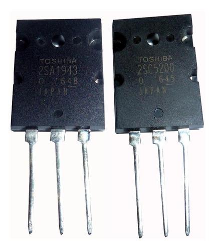 transistor toshiba pareja par 2sc5200 - 2sa1943  originales