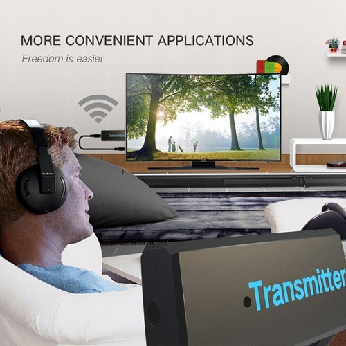 transmisor audio bluetooth para salida auxiliar de tv mp3