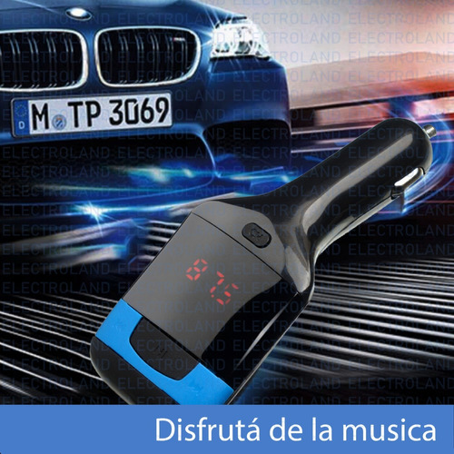 transmisor auto fm micro usb aux control remoto tm-90 mp3