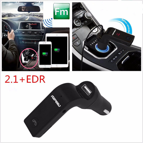 transmisor bluetooth cargador dual usb, mp3 carro aux go7
