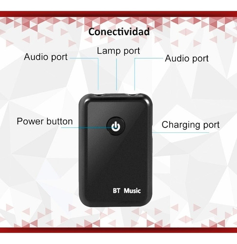 transmisor bluetooth emiso receptor audio bluetooth aux usb