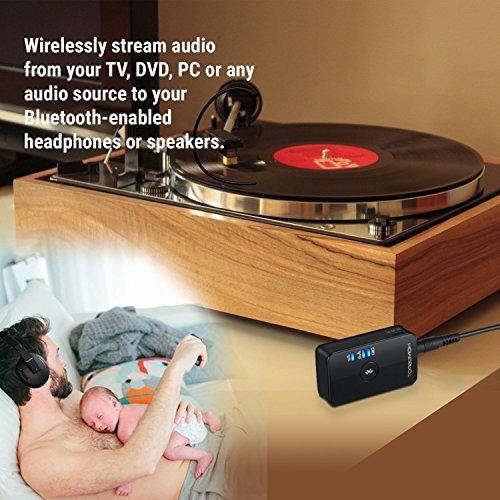transmisor bluetooth para auriculares tv baja latencia por