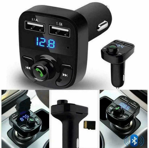 transmisor con bluetooth mp3, usb para carro modulador fm!!!