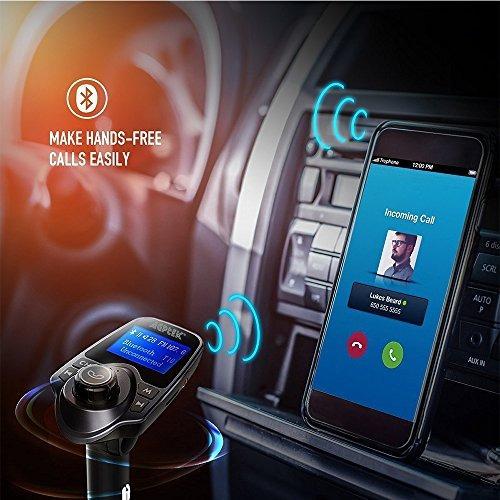 transmisor de agptek fm, kit inalambrico del coche del adapt