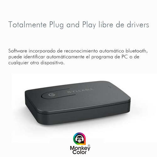 transmisor de audio bluetooth 4.0 smart tv - monkeycolor