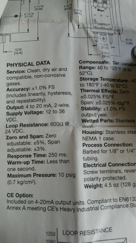 transmisor de presión diferencial serie 648