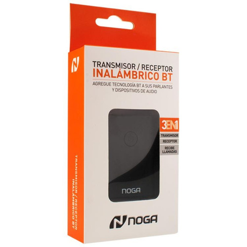 transmisor emisor receptor bluetooth audio plug 3.5mm noga