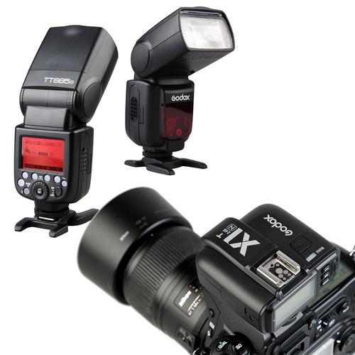 transmisor flash inalámbrico godox x1t-n 2.4g i-ttl lcd para