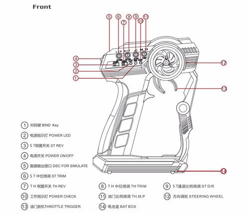 transmisor flysky fs-gt2f carro