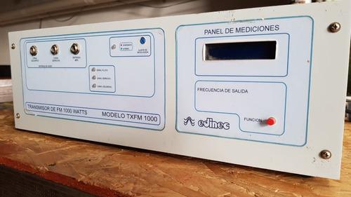 transmisor fm 1000 watts edinec txfm 1000 + cable + dipolos