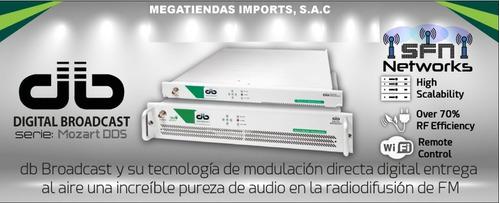 transmisor fm (30w) para emisoras de radio, italiano