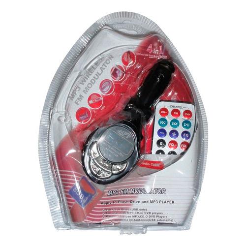 transmisor fm 4 en 1 con control iphone ipod mp3 mp4 sd usb