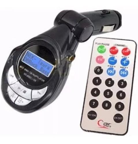 transmisor fm 6 en 1 mp3 usb con control para carro radio