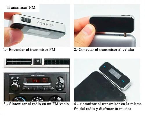 transmisor fm auto estereo de auto antiguo aux iphone ipad