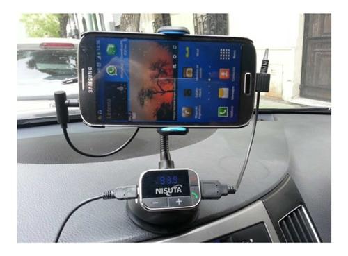 transmisor fm auto mp3 manos libres soporte cargador