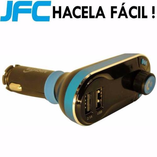 transmisor fm auto reproductor usb sd pendrive bluetooth