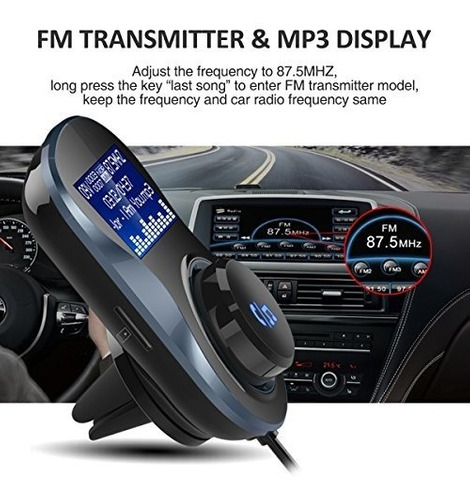 transmisor fm bluetooth adaptador de coche con bluetooth man