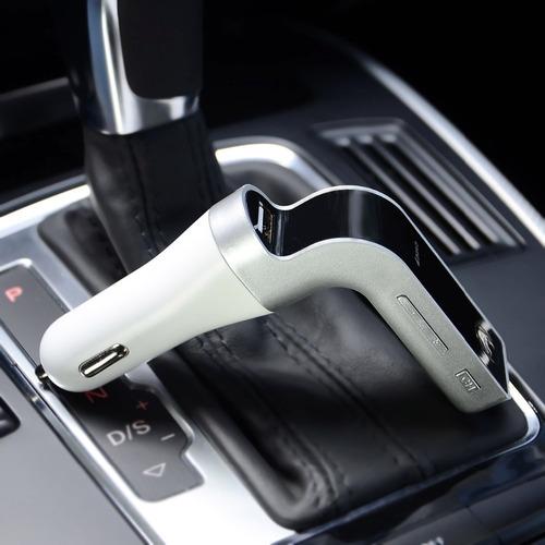 transmisor fm bluetooth carro cargador usb micro sd manos li