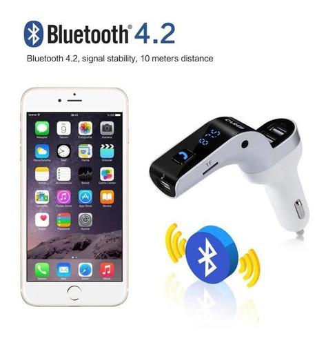 transmisor fm bluetooth carro mp3 triple usb manos libres