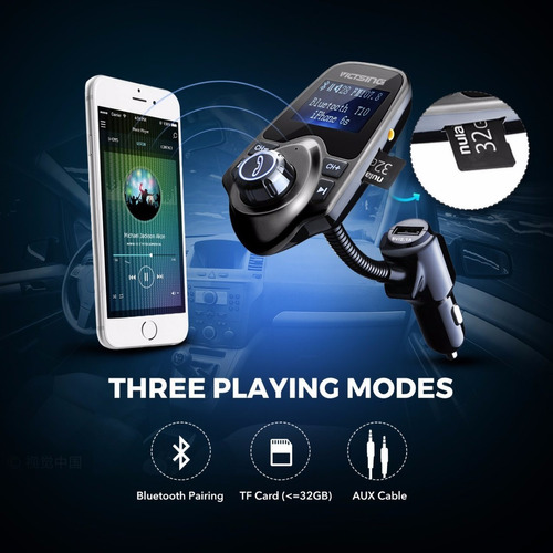 transmisor fm bluetooth con manos libres de mp3 victsing