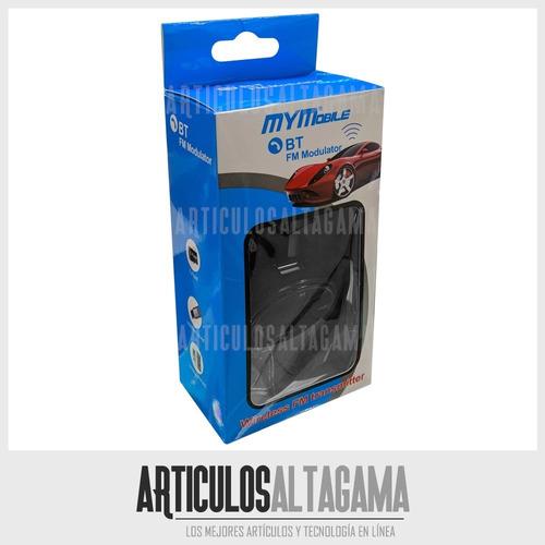 transmisor fm bluetooth para carro cargador usb micro sd mp3