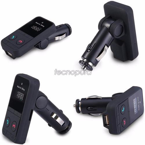 transmisor fm bluetooth radio carro manos libres mp3 usb sd