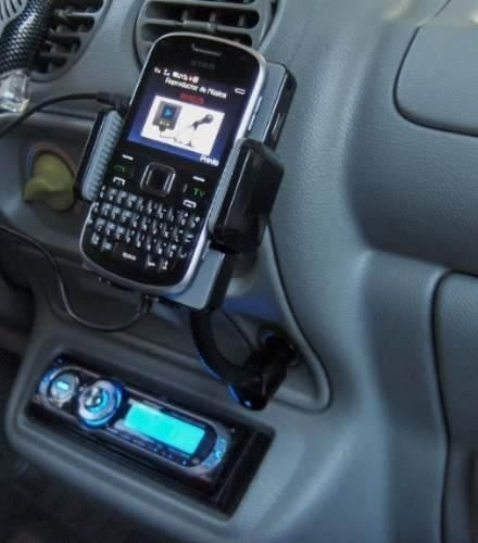 transmisor fm cargardor celular android base flexible