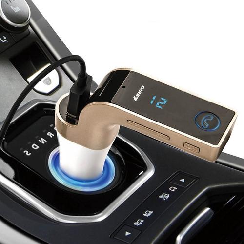 transmisor fm carro bluetooth usb micro sd manos libre c1