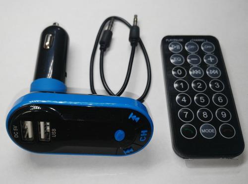 transmisor fm con bluetooth mp3 sd auxiliar y cargador