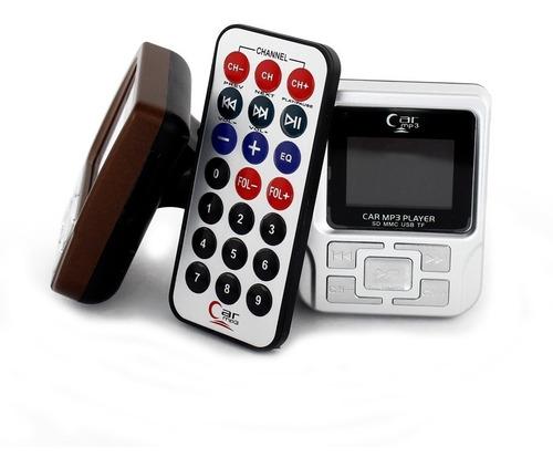 transmisor fm control remoto mp3 lee pen drive micro sd