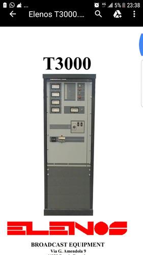 transmisor fm elenos 3500 watts