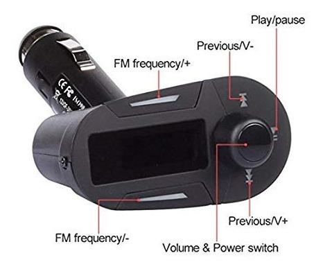 transmisor fm inalambrico amzdeal coche kit mp3 reproductor