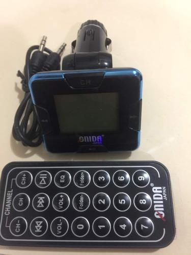 transmisor fm modulador 4 en 1 mp3 usb con control sd