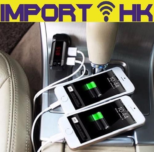 transmisor fm mp3 usb cargador celular iphone samung  tablet