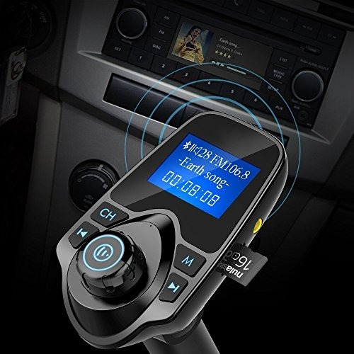 transmisor fm, nulaxy transmisor fm inalambrico bluetooth ki