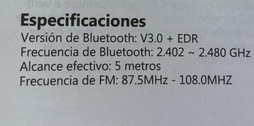 transmisor fm victsing bluetooth manos libres mp3 reprod usb