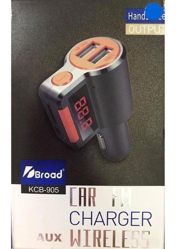 transmisor modulador fm bluetooth para carro usb memoria aux