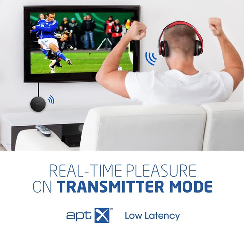 transmisor receptor 2 en 1 bluetooth mpow spdif óptico