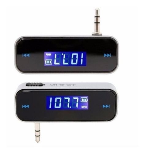 transmisor universal fm audio estereo 3.5mm celular iphone