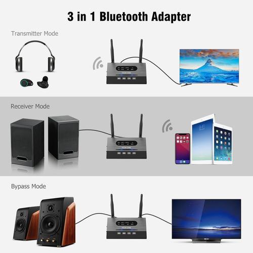 transmisor y receptor  3 en 1 adaptadores de audio bluetooth