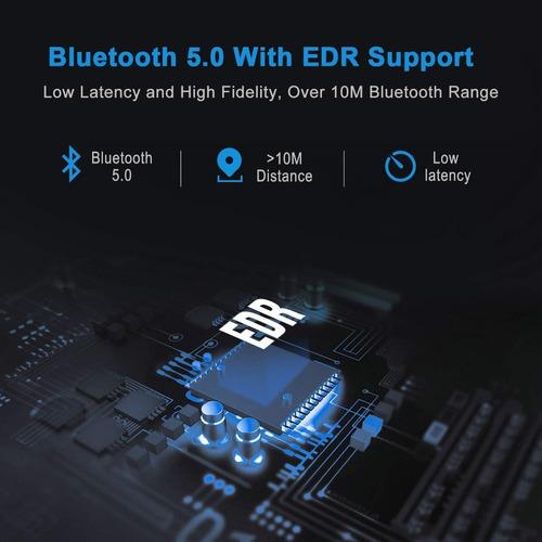 transmisor y receptor bluetooth v5.0 latencia baja adaptador