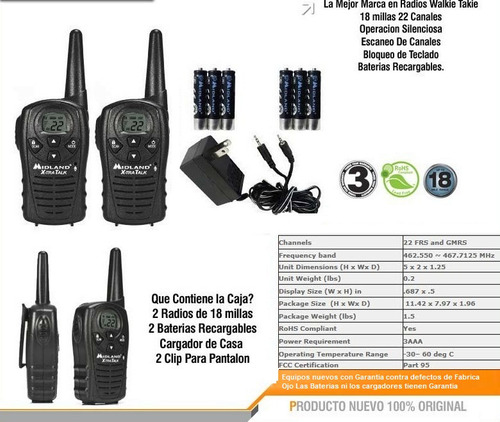 transmisores radios lxt118 canales walkies talkies woky toky