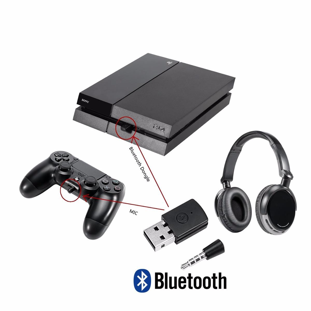 transmissor bluetooth para ps4 pc use headset sem fio. Black Bedroom Furniture Sets. Home Design Ideas