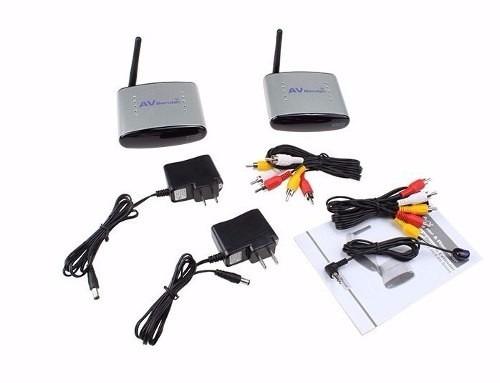 transmissor de vídeo wireless receptor tv c/ sensor controle