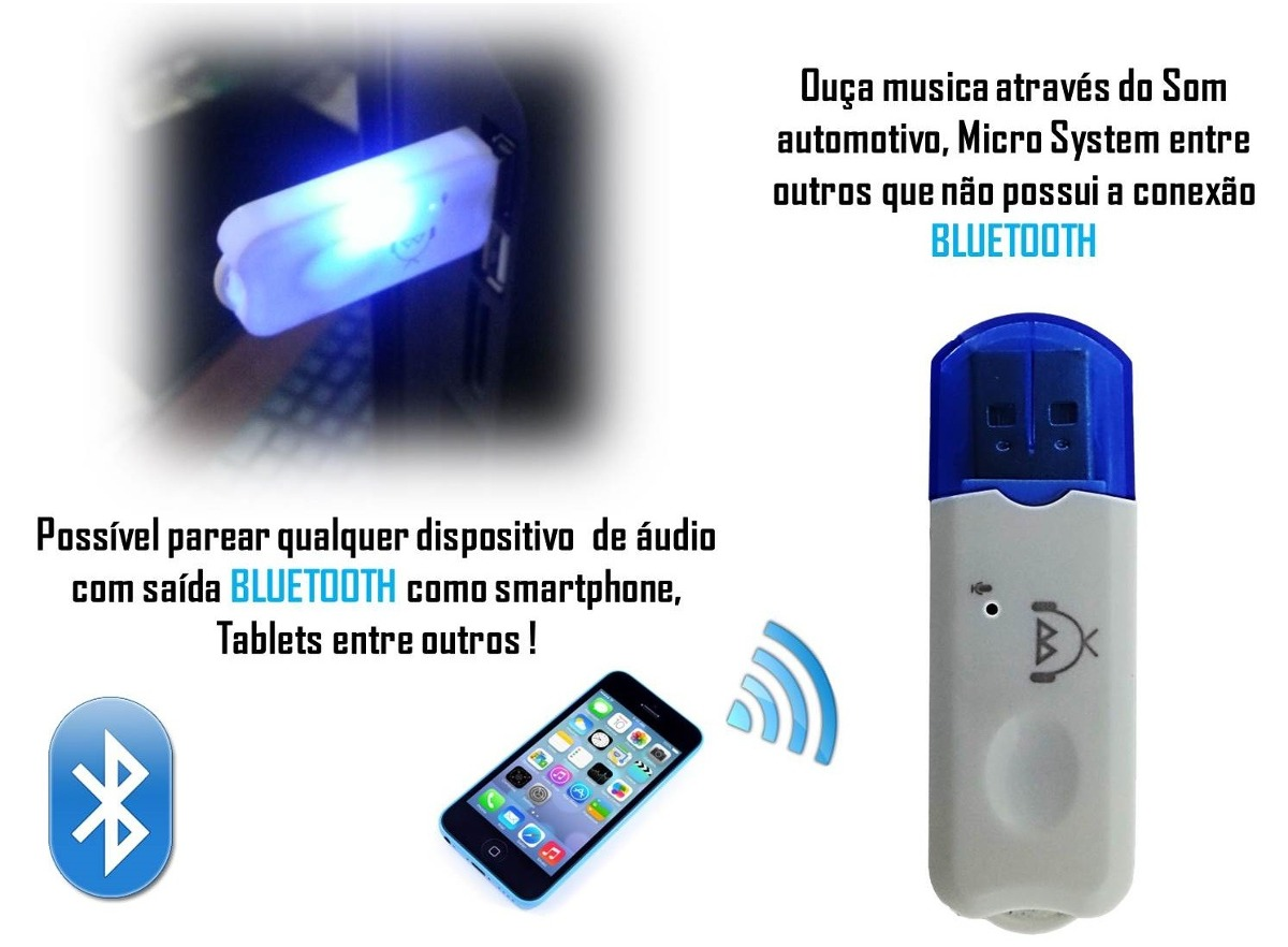 Transmissor receptor bluetooth usb adaptador musica mp3 for Bluetooth adaptador